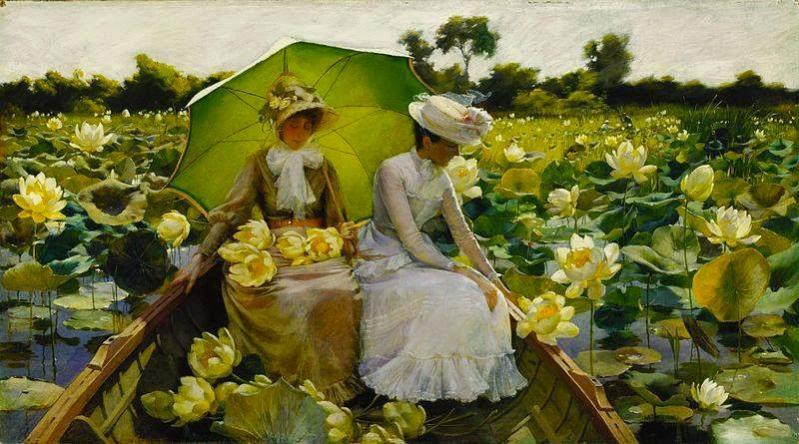 Name:  Charles Courtney Curran, Lotus Lilies, 1888..jpg