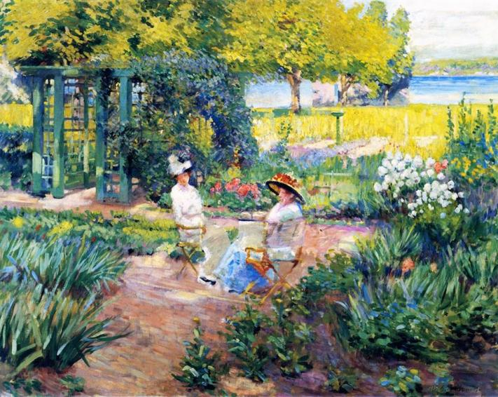 Name:  In the Garden 1910.jpg