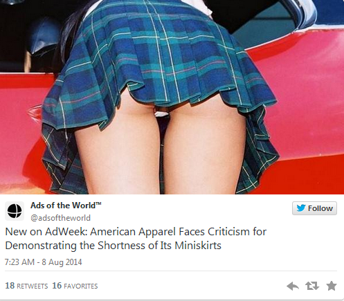Banned American Names Banned American Apparel ad
